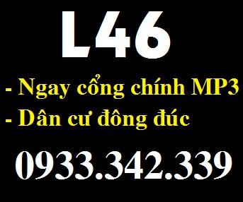 Bán lô L46 đối diện chợ Mỹ Phước 3 giá rẻ